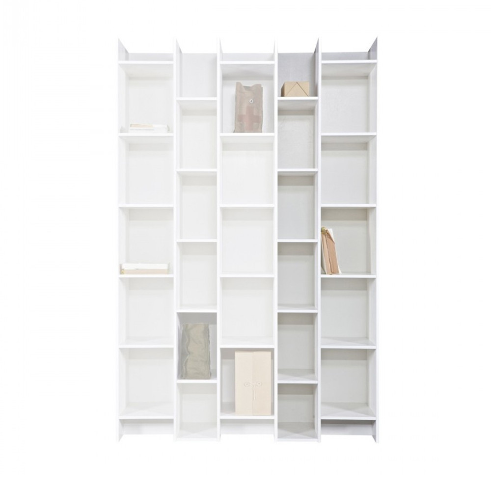 extension biblioth que blanche en pin klasina. Black Bedroom Furniture Sets. Home Design Ideas