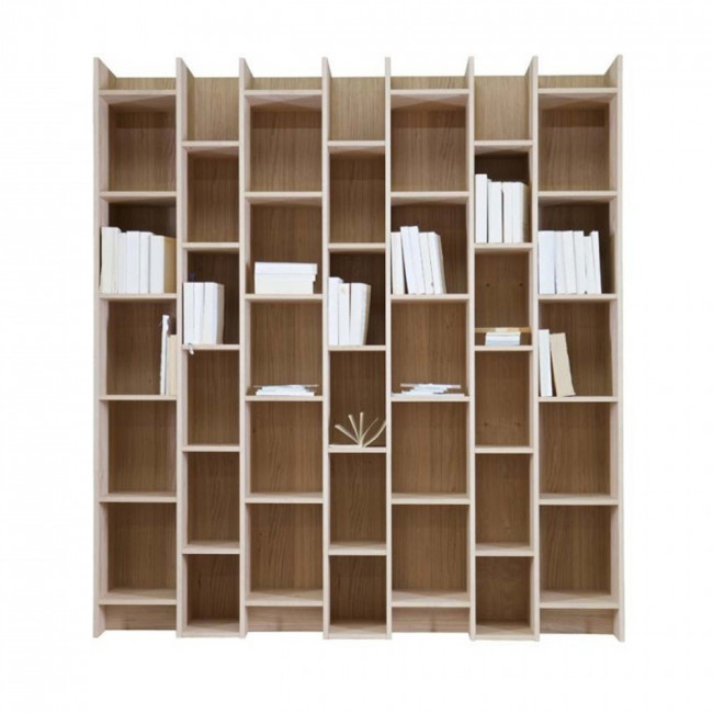 Bibliothèque en pin blanc Jetta blanche