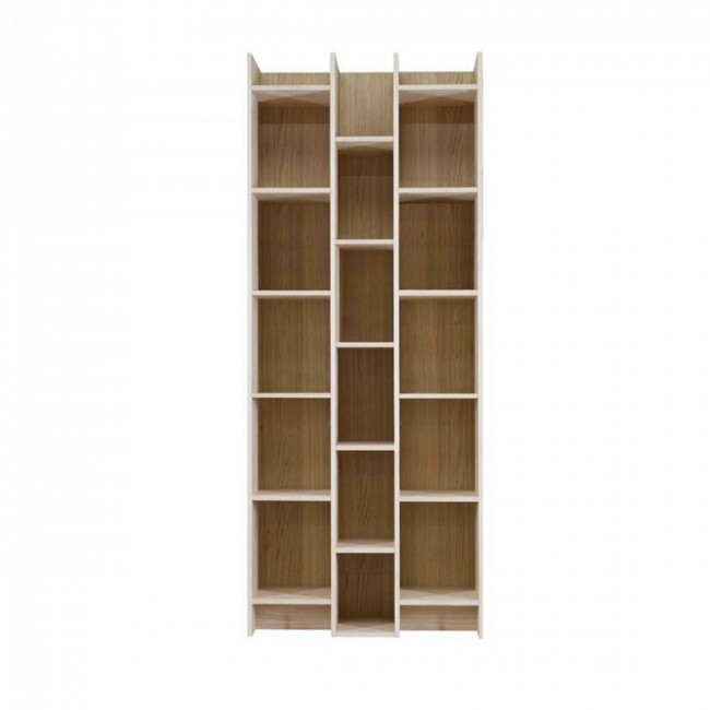 biblioth que design 3 colonnes en bois massif klasina drawer. Black Bedroom Furniture Sets. Home Design Ideas