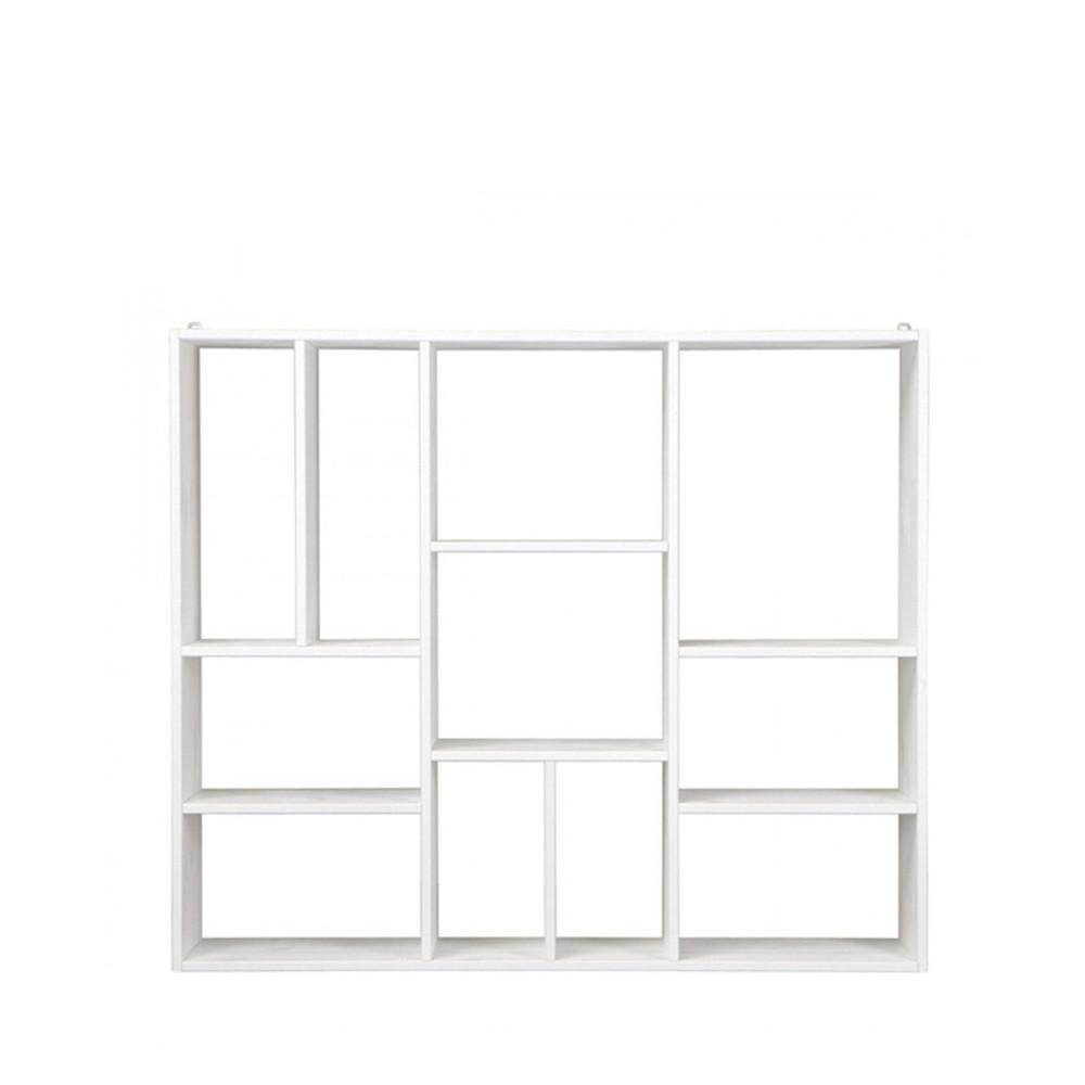 Etag re de rangement 11 compartiments - Etagere bois blanc ...