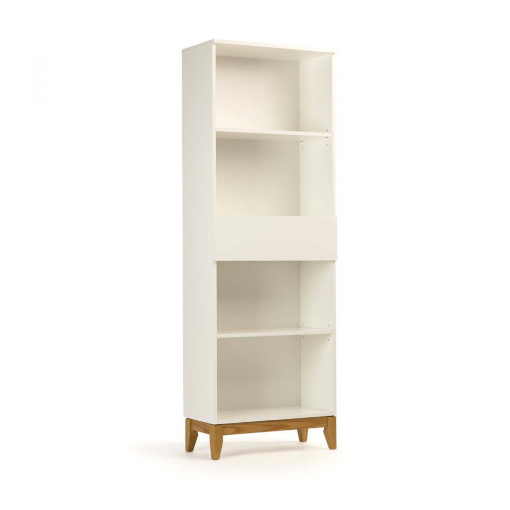Biblioth que design scandinave blanco par - Bibliotheque bois blanc ...