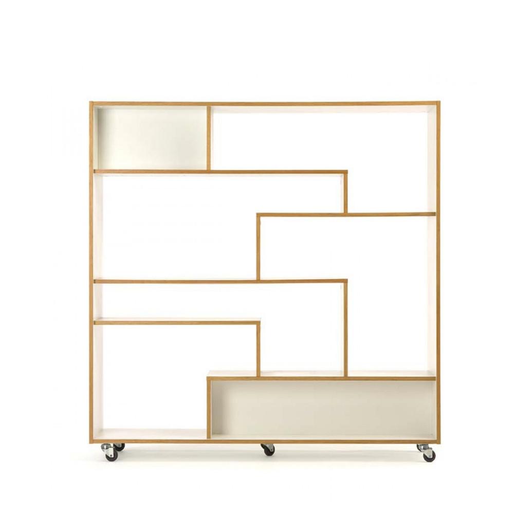 biblioth que design scandinave roulettes. Black Bedroom Furniture Sets. Home Design Ideas