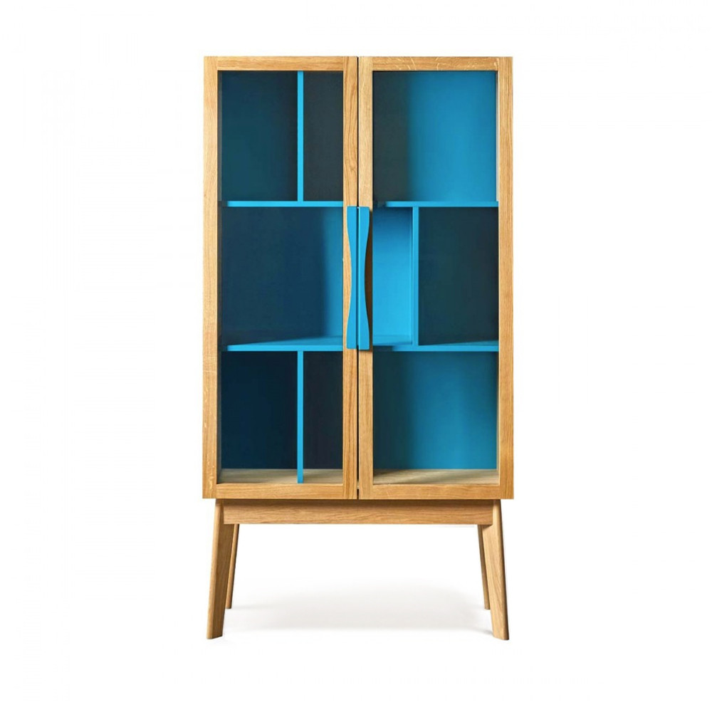 biblioth que vintage en bois 6 niches avon. Black Bedroom Furniture Sets. Home Design Ideas