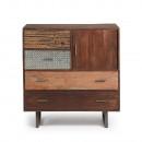 Commode design en bois de manguier finitions métal Liam