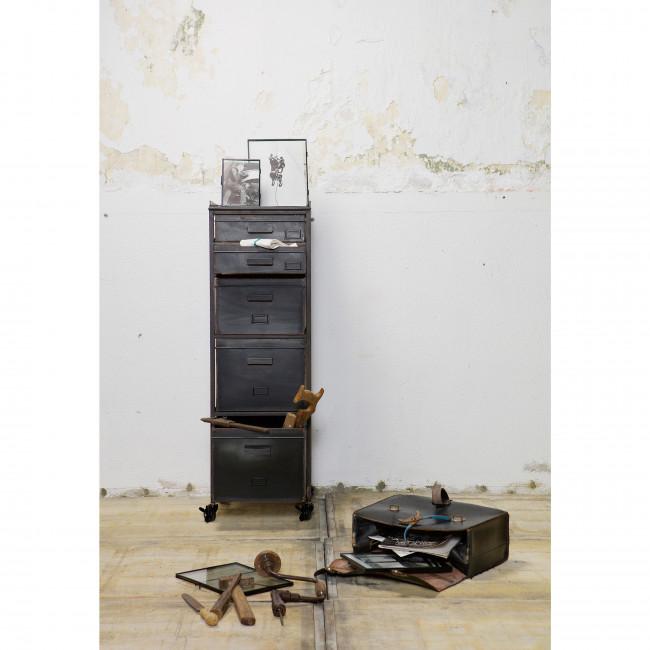 Meuble de rangement métal 5 tiroirs Chaplin