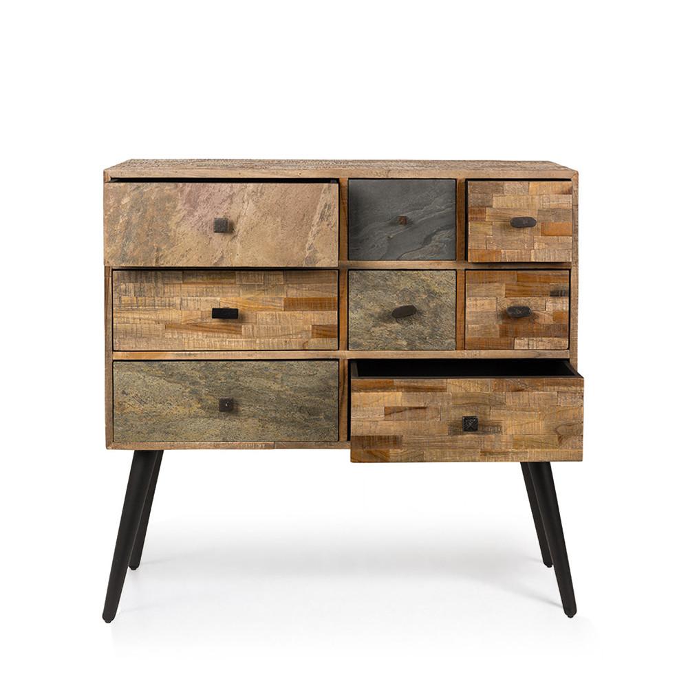 commode design en teck recycl san. Black Bedroom Furniture Sets. Home Design Ideas