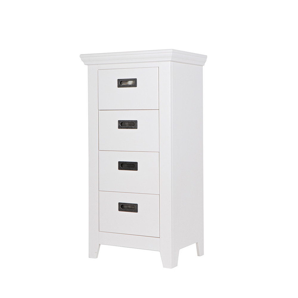 commode design 4 tiroirs pin massif blanc perpignan by drawer. Black Bedroom Furniture Sets. Home Design Ideas