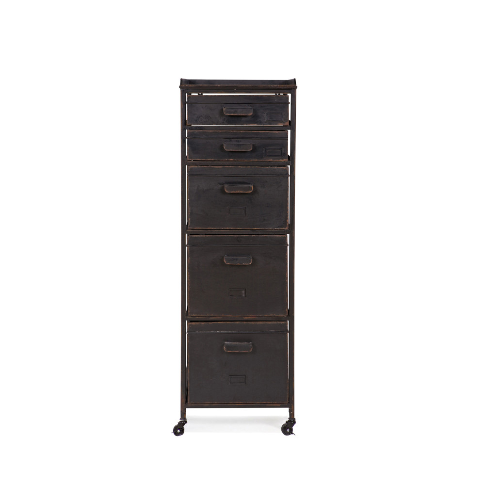 meuble de rangement m tal 5 tiroirs chaplin par drawer. Black Bedroom Furniture Sets. Home Design Ideas