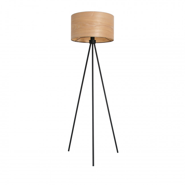 lampadaire tripode m tal bois woodrum by drawer. Black Bedroom Furniture Sets. Home Design Ideas