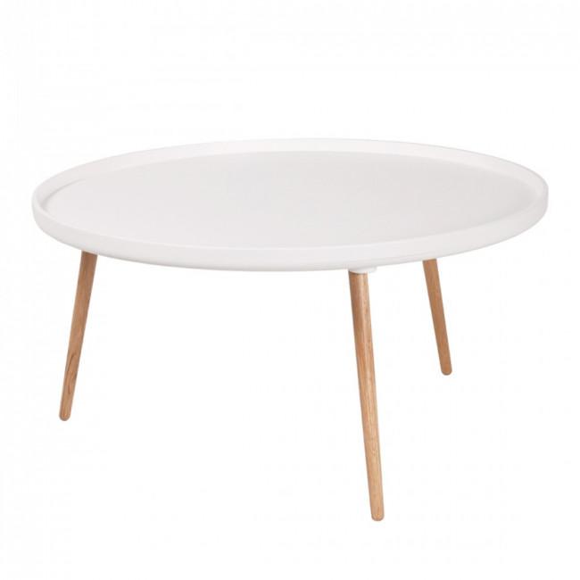 Table basse ronde Kompass Ø90 blanche