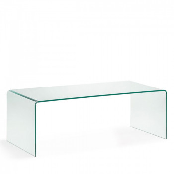Table basse en verre trempé transparent Burano