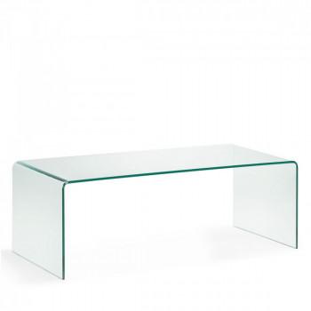 Table basse en verre trempé transparent Burano