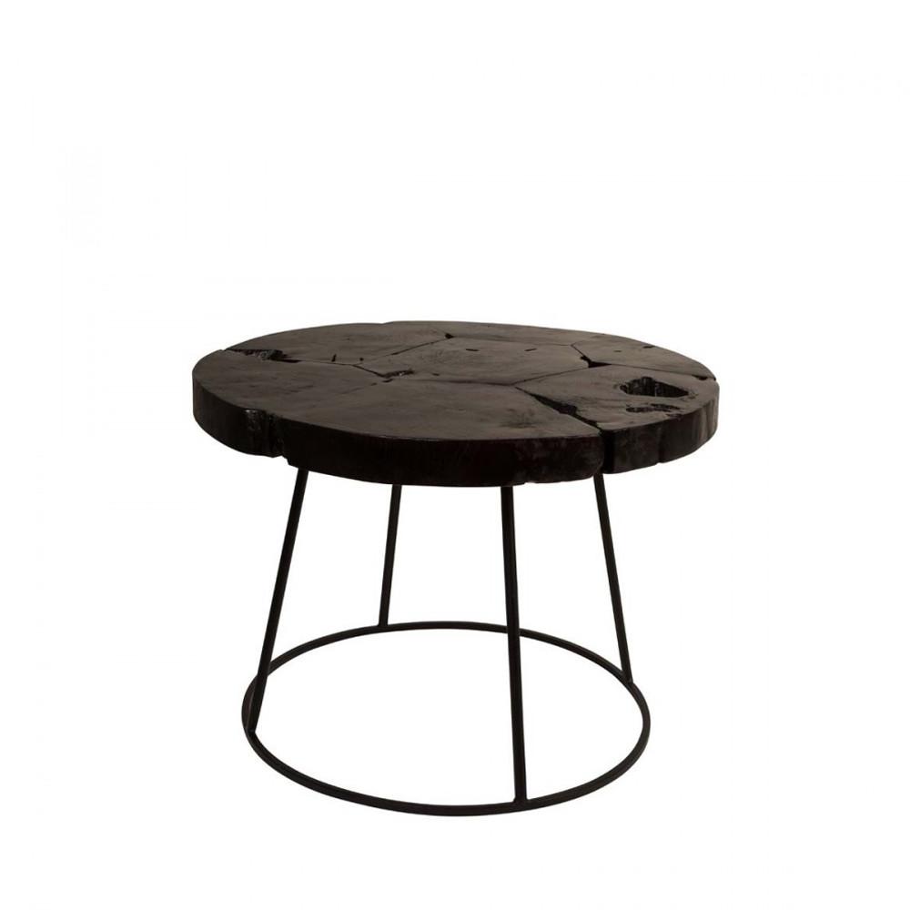 table basse teck et m tal kraton par. Black Bedroom Furniture Sets. Home Design Ideas