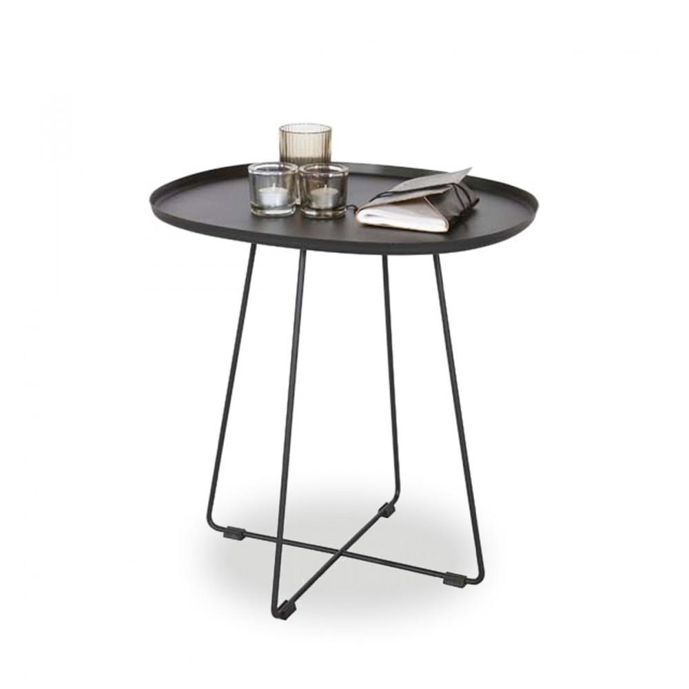 table basse en m tal pi tement crois otis par. Black Bedroom Furniture Sets. Home Design Ideas