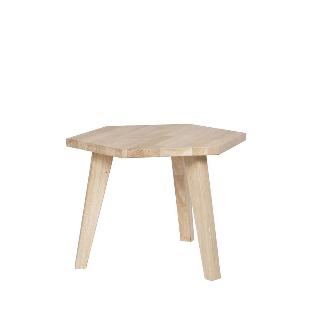 table d 39 appoint hexagonale en bois france par. Black Bedroom Furniture Sets. Home Design Ideas