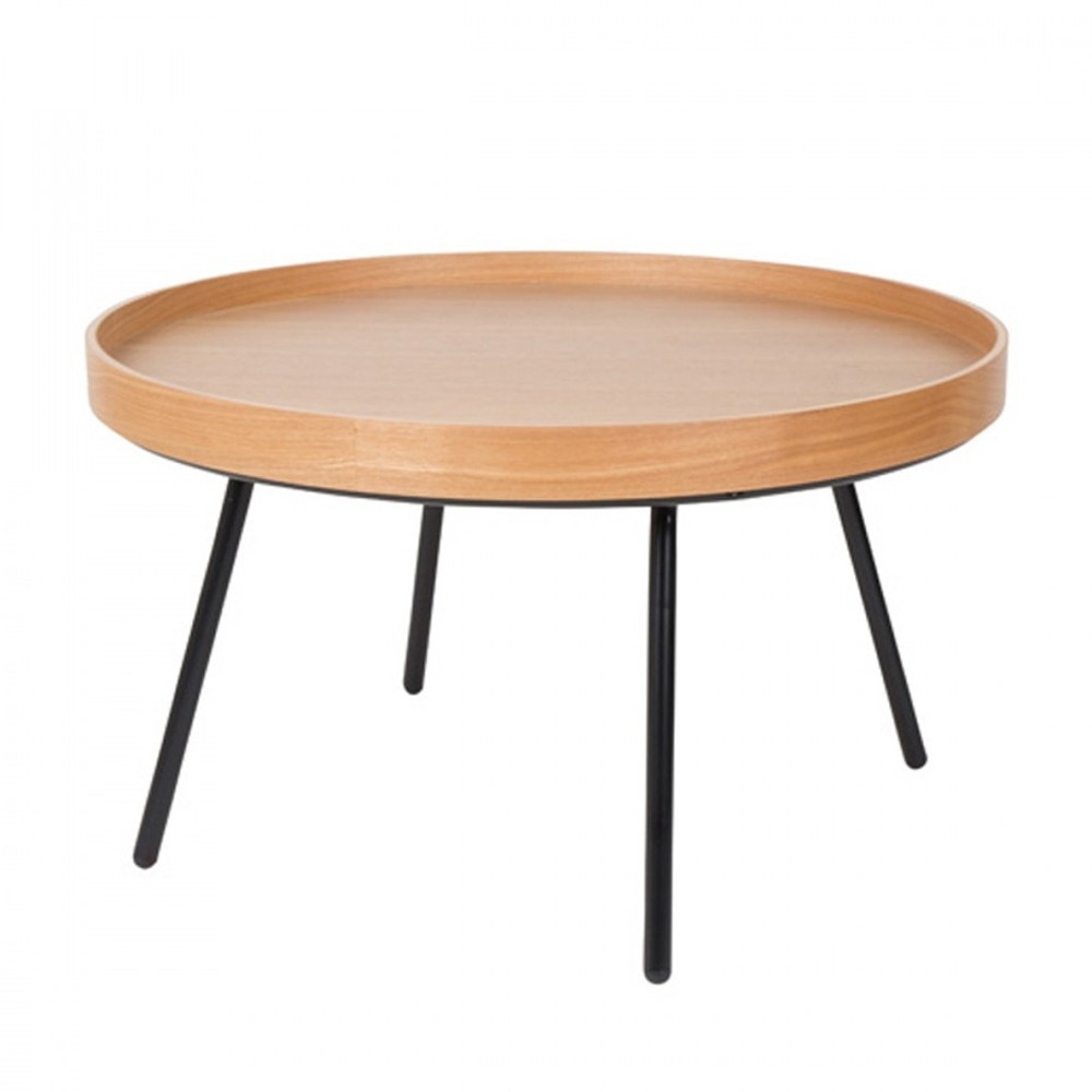 table basse ronde en ch ne plateau amovible oak tray zuiver. Black Bedroom Furniture Sets. Home Design Ideas