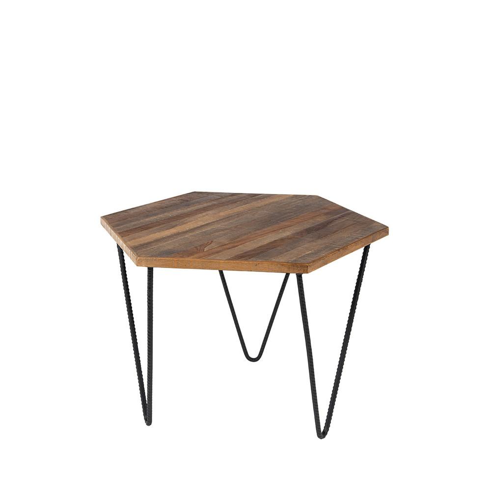 Table d 39 appoint en teck recycl cor for Table d appoint exterieur