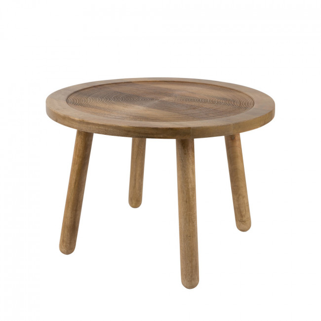 Table d'appoint ronde bois Ø60 Dendron Zuiver
