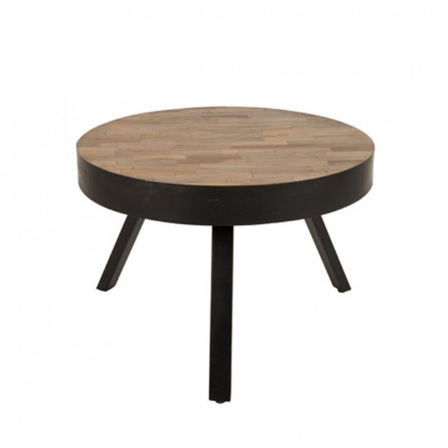 Table basse ronde Ø58 cm en teck recyclé Suri Medium