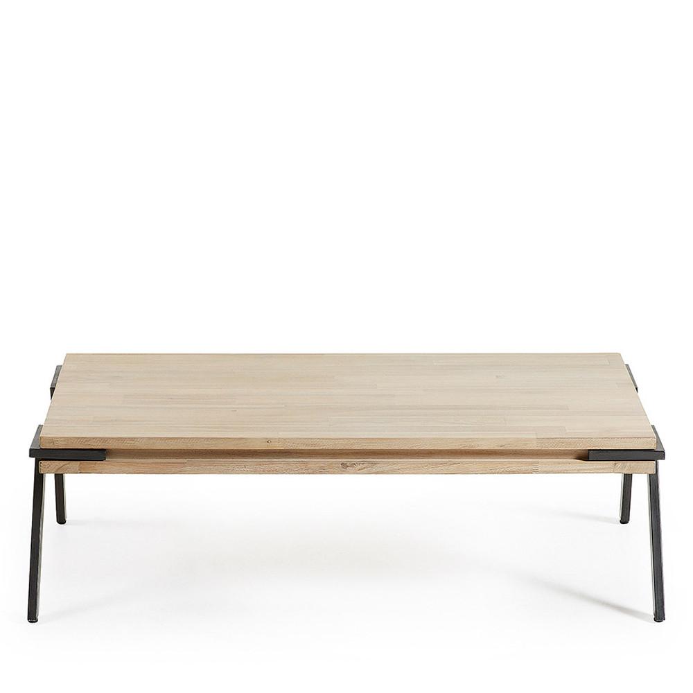table basse rectangle bois massif et m tal spike by drawer. Black Bedroom Furniture Sets. Home Design Ideas