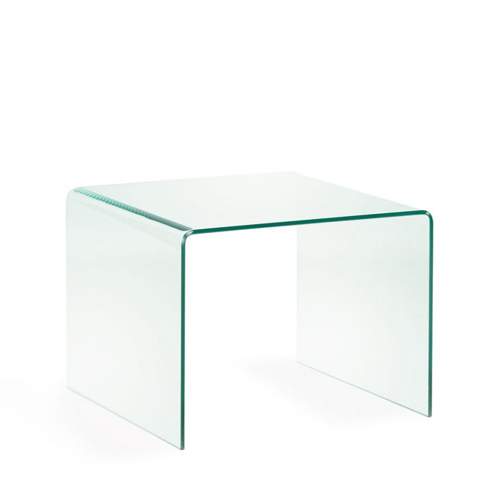 table d 39 appoint en verre transparent burano par. Black Bedroom Furniture Sets. Home Design Ideas