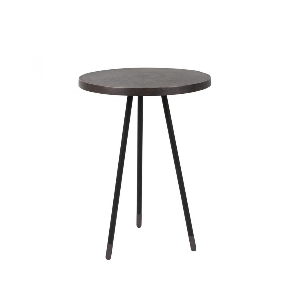 set 3 tables d 39 appoint vintage cuivre laiton acier alim par. Black Bedroom Furniture Sets. Home Design Ideas