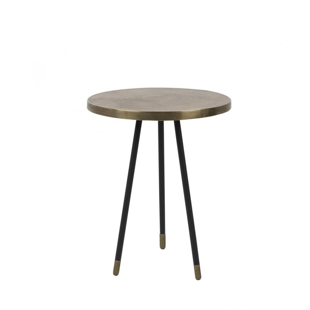set 3 tables d 39 appoint vintage cuivre laiton acier. Black Bedroom Furniture Sets. Home Design Ideas