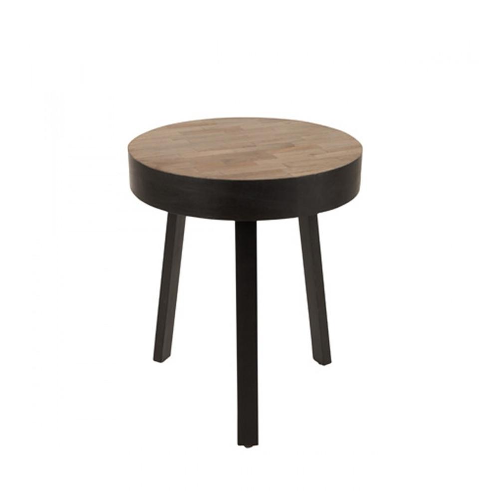 ø45 teck basse recyclé cm Small SURI ronde Table en lTF3JK1c