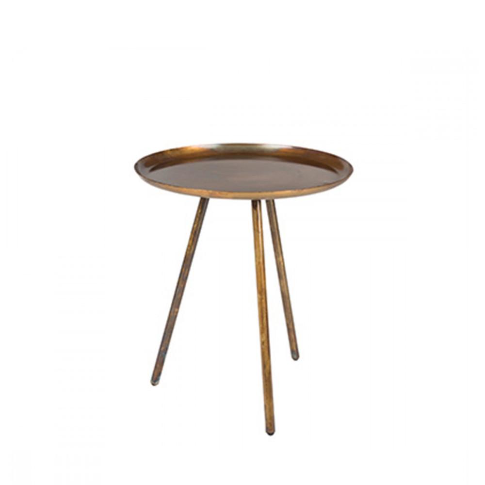 Table d 39 appoint en acier laqu frost par for Mobilier laque contemporain table basse