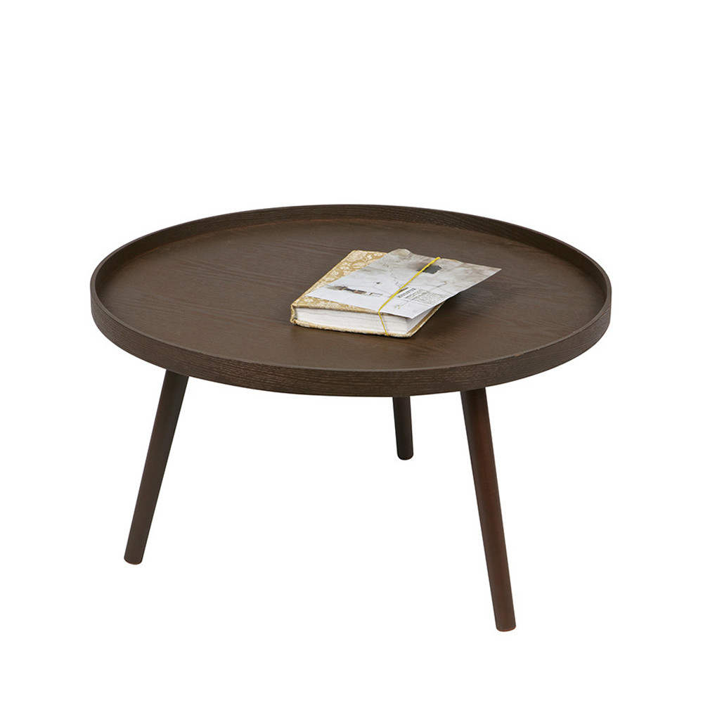 table d 39 appoint ronde bois l mesa by drawer. Black Bedroom Furniture Sets. Home Design Ideas