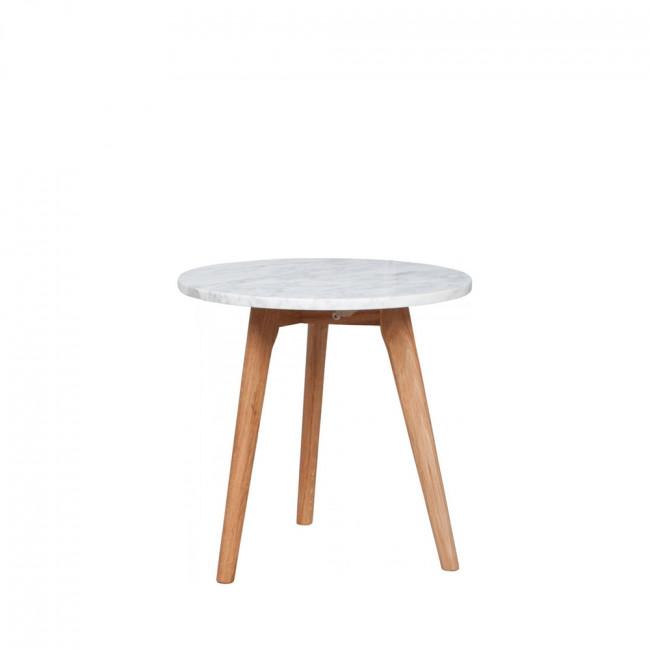 table basse ronde en marbre white stone m zuiver. Black Bedroom Furniture Sets. Home Design Ideas