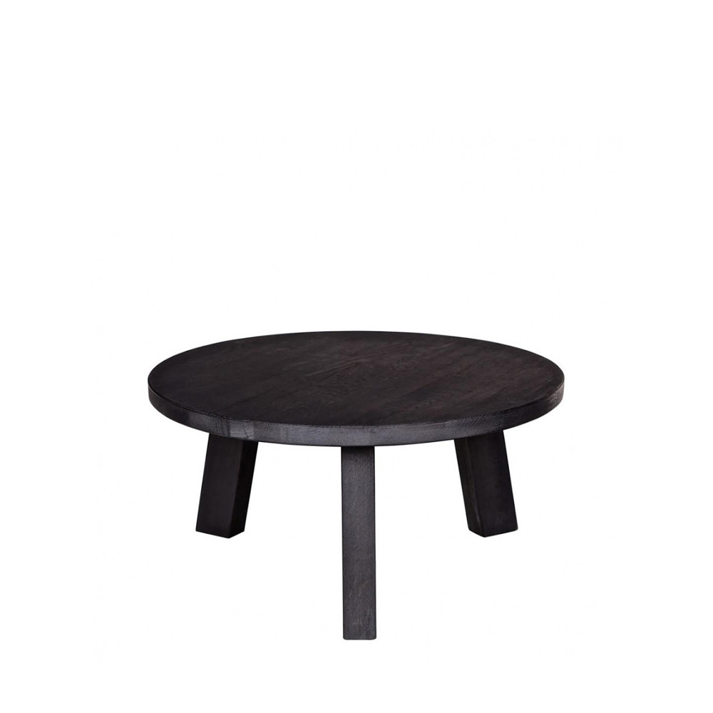 table basse en ch ne 50cm ronde teofilus par. Black Bedroom Furniture Sets. Home Design Ideas