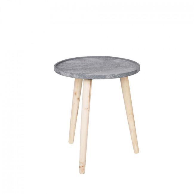table basse effet b ton et bois rover by drawer. Black Bedroom Furniture Sets. Home Design Ideas