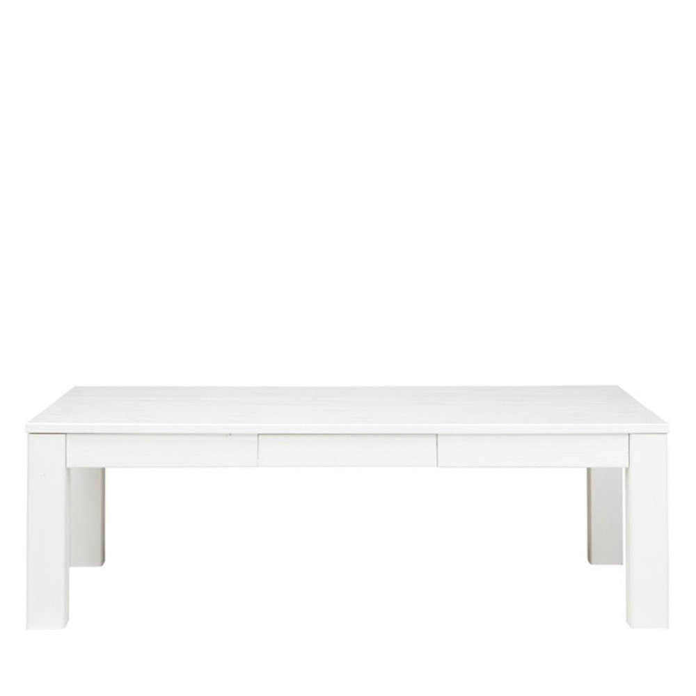 Table basse en pin bross godelieve par drawer for Table exterieur 120x70