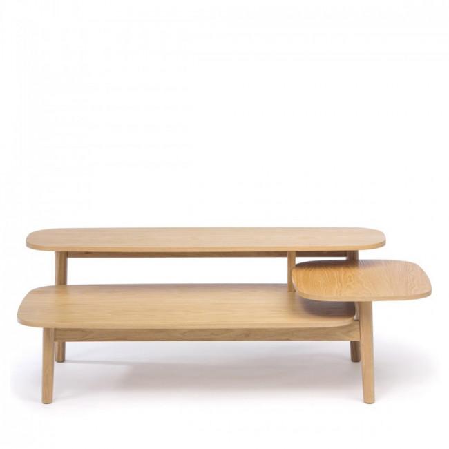 Table basse en bois 3 plateaux Eichberg