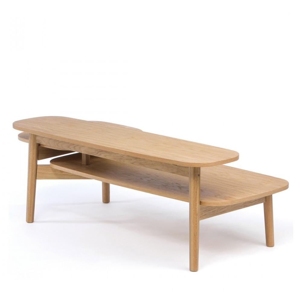 Table basse en bois 3 plateaux eichberg for Table basse en bois