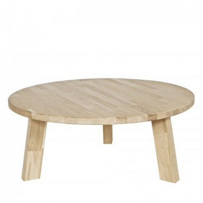 Table basse ronde en ch ne theofilus for Table basse ronde industrielle