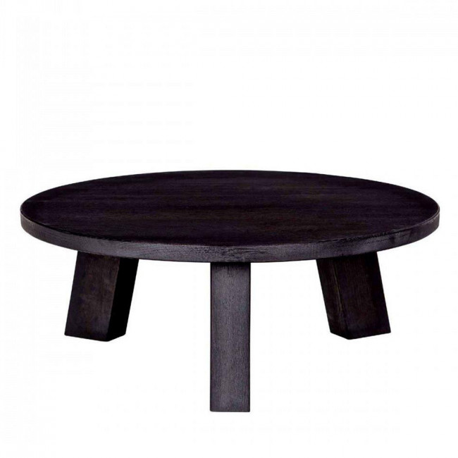 Table basse ronde en chêne massif 80cm Theofilus