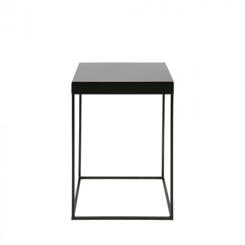 Table d'appoint design industriel métal noir Meert