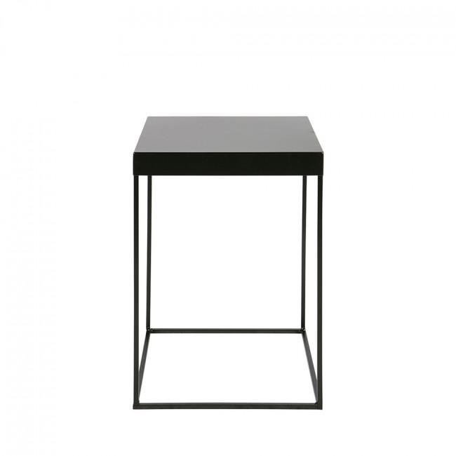 Table d'appoint design industriel métal noir Meert