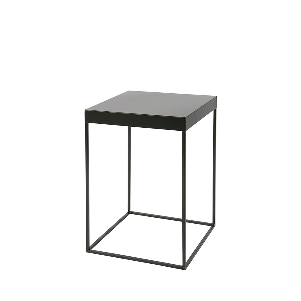 best table duappoint design industriel mtal noir meert with table de chevet en metal. Black Bedroom Furniture Sets. Home Design Ideas
