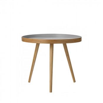 Table d'appoint bicolore scandinave en bambou Breve