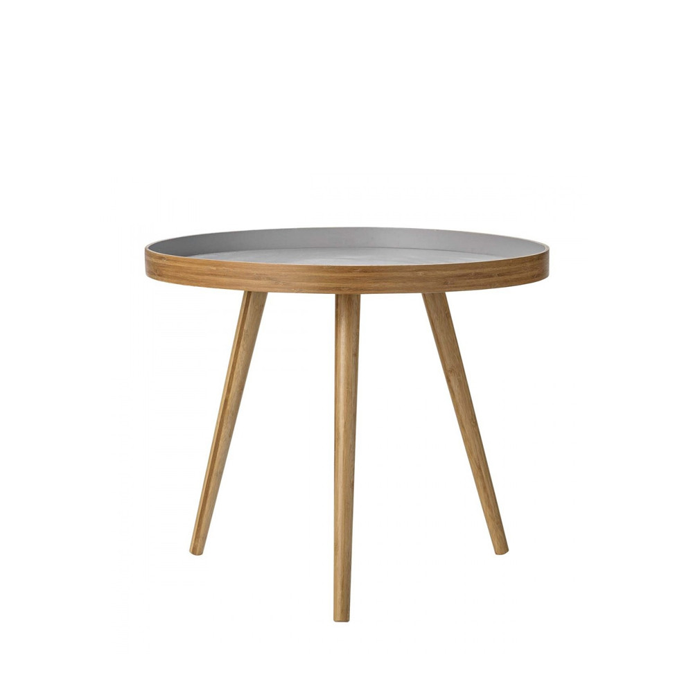 Table bambou bicolore br ve bloomingville - Table d appoint scandinave ...