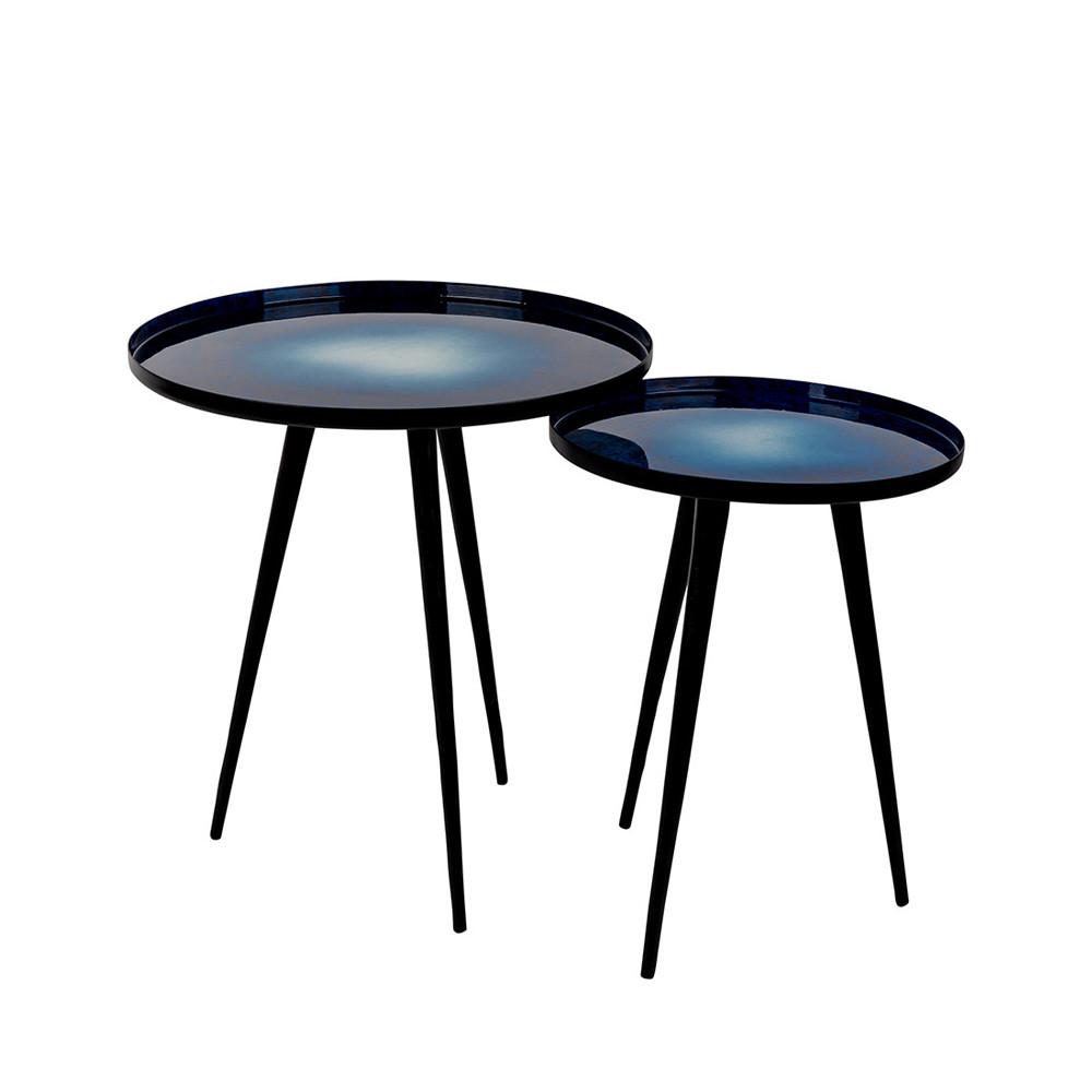 Lot de 2 tables d 39 appoint design flow zuiver for Table d appoint moderne