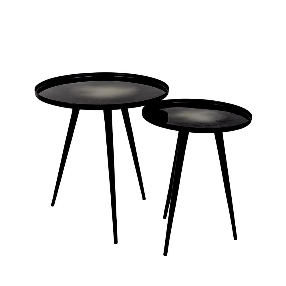 lot de 2 tables d 39 appoint design flow zuiver. Black Bedroom Furniture Sets. Home Design Ideas
