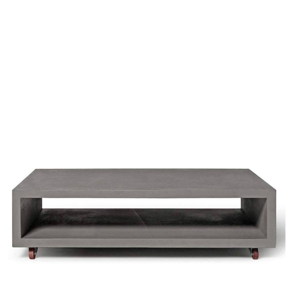 Table Basse Beton Sur Roulettes Monobloc Xl By Drawer
