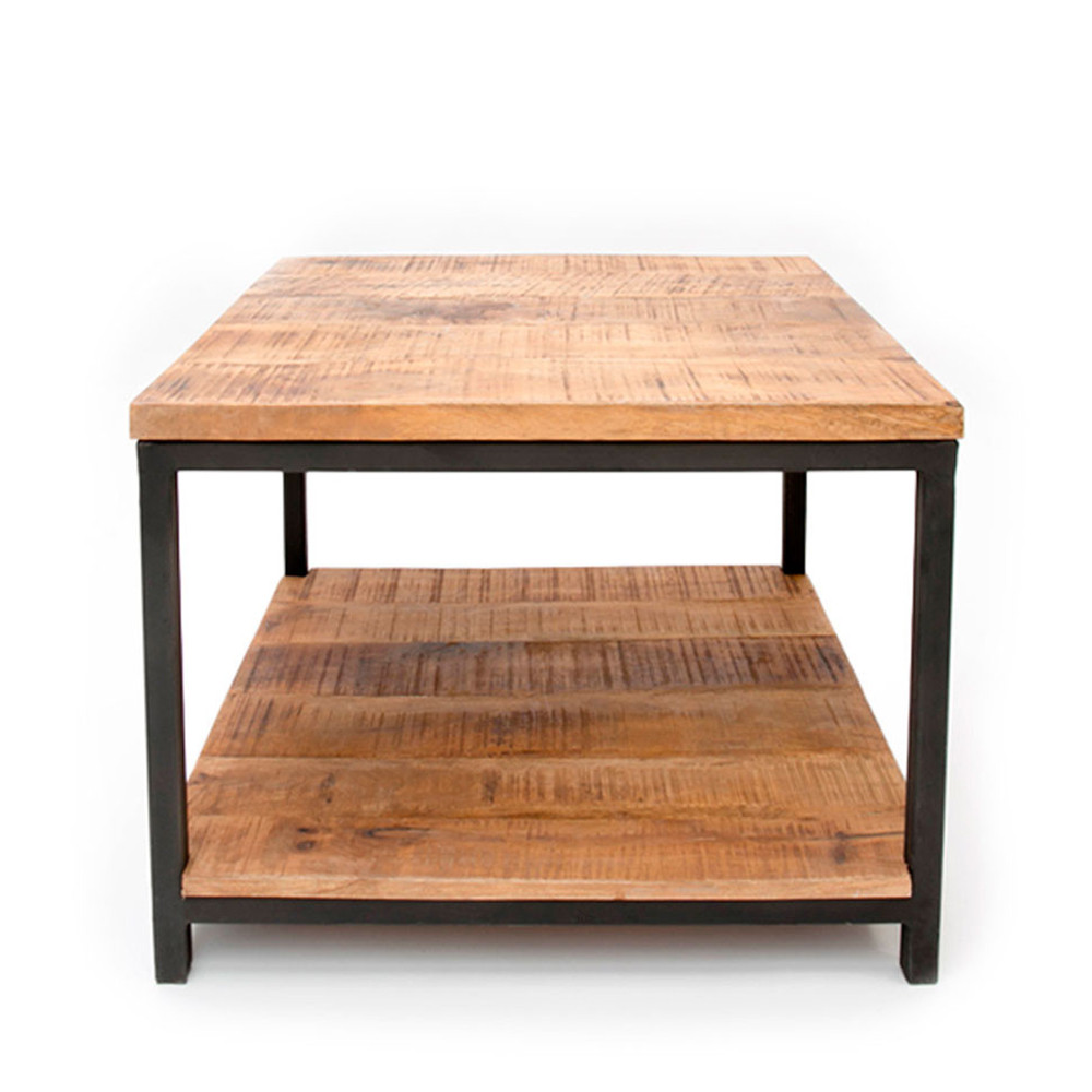 Table basse carr niche bois et m tal jug drawer - Table basse zinc bois ...