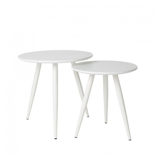 Lot de 2 tables d'appoint lacquées Daven