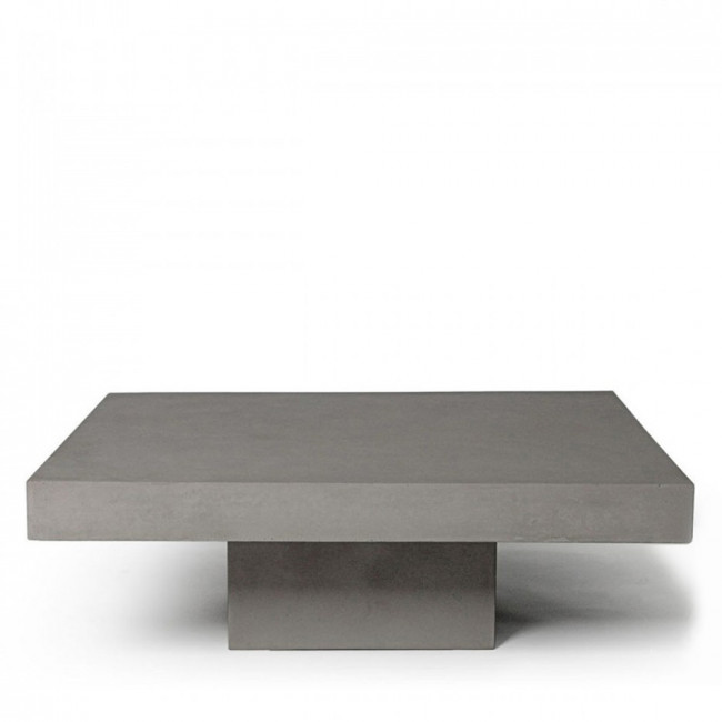 Table basse carrée béton T-Square