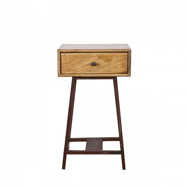 Table d'appoint bois métal vintage Frem